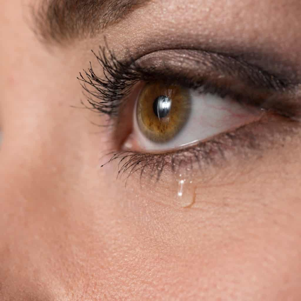 Image of eye with tear rolling down face - Cooper Complete Nutritional Supplements